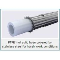 Quality PTFE lined stainless steel wire reinforced hydraulic hose for high temp and harsh conditions for sale
