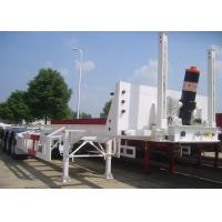 Quality 3 Axles 40ft Tipping Skeleton Semi Trailer Chassis For Container Dump Discharge for sale