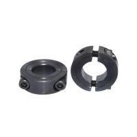 China All size mild steel black oxide double split shaft collar for clamping on sale