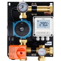 Quality 8102 Water Mixing Center DN25 with Automated Manual Supply Switch Ball Valve and Central Linkable Temperature Controller for sale