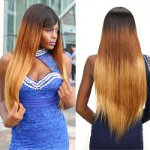 Buy cheap 100% Ombre Three Tone Straight Brazilian Virgin Hair 30