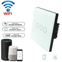 Quality EU Standard Wifi Light Switch Wall Switch Wireless Smart Switch 220v APP Control with Alexa/google home 1/2/3 Gang for sale
