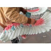 Quality Big Size Wing Shape Fiberglass Resin Statues Colorful Artificial Wing Decorations for sale