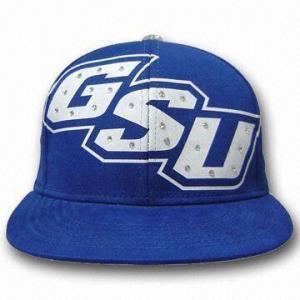 Quality 100% Cotton Promotional Baseball Hip Hop Cap, Adjustable Snapback/Silk Print Logo for sale