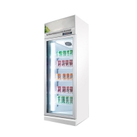 Quality Commercial Drinks Glass Door Display Chiller Soda Upright Cooler for sale