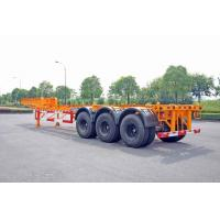 Quality Steel Tank Container Trailer Chassis / 40 ft Gooseneck Trailer 3 Axles for sale