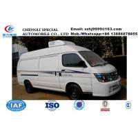 Quality China famous high quality and low price JINBEI brand gasoline refrigerator minivan for sale, cold room van truck, for sale
