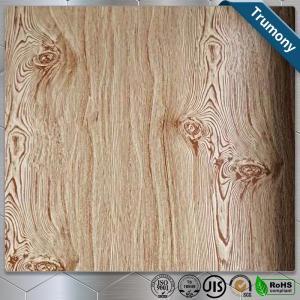 Quality Decoration Wood Grain Aluminum Composite Panel Thickness 3mm ~ 6mm Paint Coat Surface for sale