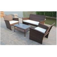 Quality Nice 4PCS All Weather Rattan Garden Furniture Outdoor Resin Wicker Sofa Set for sale
