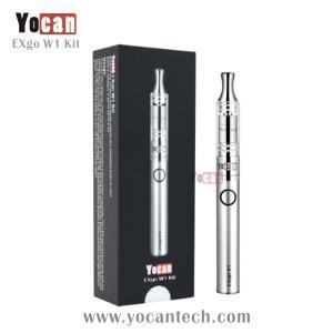 Quality No unhealthy wicks or coils wax vaporizer exgo Yocan EXgo W1 hottest upgraded ego wax atomizer for sale