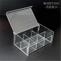 China Custom Clear Acrylic 5 Sided Display Box Customized Name Light Up Acrylic Wedding Card Display Case LED Wedding Wishing on sale