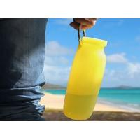 Quality Portable Outdoor Travel bpa free silicone collapsible water bottle 600Ml for sale