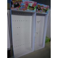 Quality Paper Material Cardboard LCD POP Display Stand , Hooks Toy Display for sale