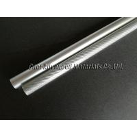 Quality Chrome silver glossy fiberglass tube 30mm OD, fibreglass decoration tube for sale