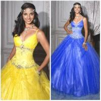 Quality 2012 New Sexy Spaghetti Straps A-Line Sheath Jacket Beaded Ruffle Tulle Quinceanera Dresses (QD-030) for sale