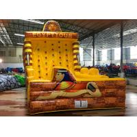 Quality Yellow Egypt Pyramid Theme Inflated Fun Games Inflatable Climbing Wall for sale