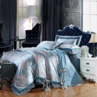 China bedding set 100%cotton Jacquard tribute silk tencel satin duvet cover bedsheet pillowcase brand bed cover quilt cover be on sale