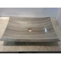 China Chinese Grey Wood marble basin factory sink with wholesale price on sale