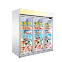 Buy cheap 1-2-3-4 Glass Door Freezer Standing Refrigerated Showcase from wholesalers