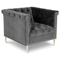 Quality Hot sell tufted botton velvet accent chair, living room furniture single lounge sofa chair for sale