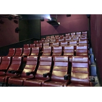 Buy cheap 12 HZ Vibration Rate Comfortable Red Cinema Seats in Special Effects With Cup from wholesalers