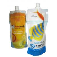 Quality Environment friendl  Strong sealing strength stand up pouch with spout special shape for juice drinks for sale