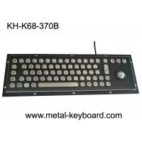 Buy cheap Black Metal Stainless steel Industrial Mounted Keyboard with Trackball Pointing Device from wholesalers