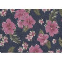 Quality Wonderful Flower Printed 100 Cotton Denim Fabric Luxury Outdoor Fabric for sale