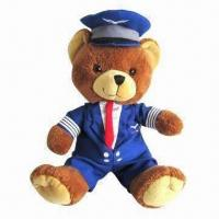 Quality Uniform Bear Plush Toy, Made of Soft Plush, Available in Various Sizes and Designs for sale