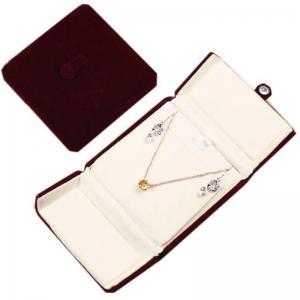 China special design luxury velvet jewellery box on sale