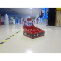 Quality Corrugated Cardboard Floor Display Stand 4C waterproof For Advertising for sale