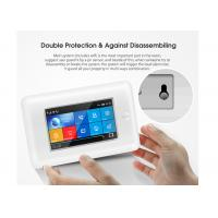 China Full Touch Screen GSM 3G WIFI Home Security Alarm System With SOS Button on sale