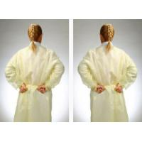 China Non - Irritating Non Woven Isolation Gown CPE / PE Material Water Resistant on sale