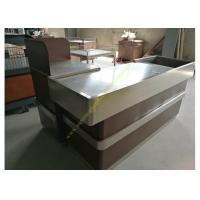 Buy OEM Supermarket Checkout Counter / Stainless Steel Cash Register Table at wholesale prices