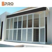 Quality Outdoor Perforating Movable Aluminium Louver Window Vertical Sun Shading for sale