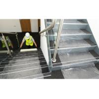 China Stable Adhesive Carpet Protector Film Clear Color PE Material For Stairs on sale