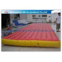 Quality Red Interactive Inflatable Sports Games Air Mattress For Gym Bungee Jumping for sale