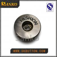 Quality single pin 17mm jeans button and metal buttons with fashion logo todecorate jeans for sale