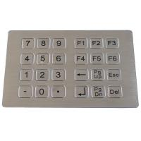 Quality Stainless steel metal keypad for kiosk for sale