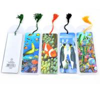 China fashion plastic lenticular 3d bookmark with tassel on sale