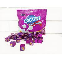 Quality 50pcs Cube Shaped Candy / yogurt flavored milk candy 2.75g * 50 * 25bags for sale