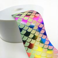 China 3 Inch Sparkle Fish Scale Glitter Sparkle Grosgrain Ombre Base Colors ribbon on sale