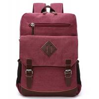Buy Reusable 13 Inch Polyester Laptop Bag / Red Canvas Laptop Backpack Lightweight at wholesale prices