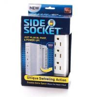 Quality Multifunction Side Swivel Socket , ABS Copper Space Saving Wall Power Strip for sale