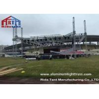 Quality Outdoor Stage Showing Triangular Truss System , Lift Towers Aluminum Box Truss for sale