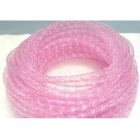 Quality Clear Pink Cable Mesh Sleeve , Protective Mesh Sleeving PET Material for sale
