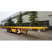 China TITAN VEHICLE 3 axles flatbed semi trailer with 40ft shipping container price to  Bangladesh on sale