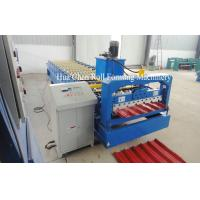 Quality 1220mm Raw Material Color Steel Plate Roofing Roll Forming Machine for sale