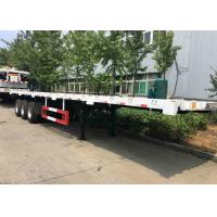 Quality Sino Howo Container Trailer Truck 12.5*2.5*1.5m Dimension 40 FT Flatbed Trailer for sale