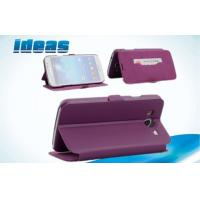 Buy Purple Samsung Galaxy Leather Cases Wallets for Samsung Galaxy Mega 6.3 at wholesale prices